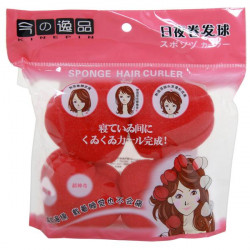 Soft Sponge Ball Hair Curlers (Heart)